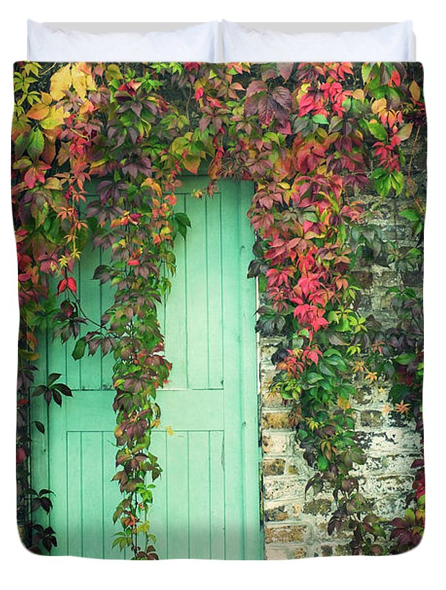 Tranquility Duvet Cover featuring the photograph Door To The Secret Garden by Image By Catherine Macbride