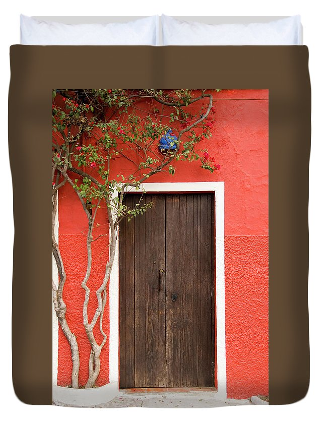 Built Structure Duvet Cover featuring the photograph Doorway by Livingimages