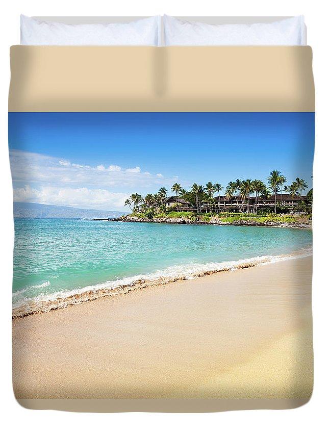 Lahaina Duvet Cover featuring the photograph Dream Beach Napili Bay Maui Hawaii by Mlenny