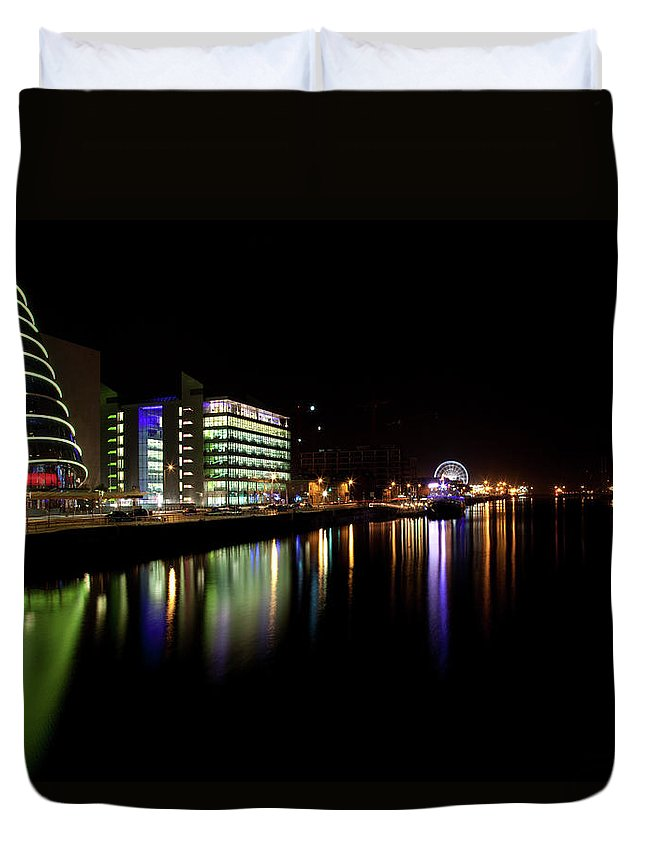 Dublin Duvet Cover featuring the photograph Dublin City Along Quays by Image By Daniel King