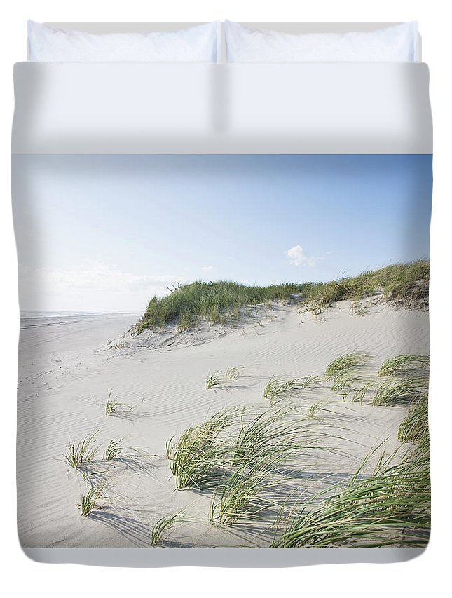 Tranquility Duvet Cover featuring the photograph Dunes And Beach, Nantucket Island by Nine Ok