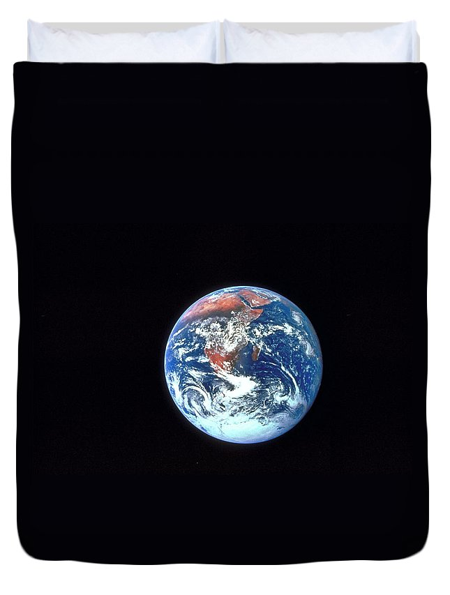 Globe Duvet Cover featuring the photograph Earth From Outer Space by Ablestock.com