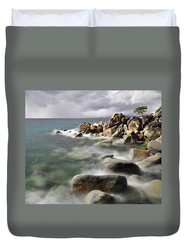 Tranquility Duvet Cover featuring the photograph East Shore, Lake Tahoe by Stevedunleavy.com