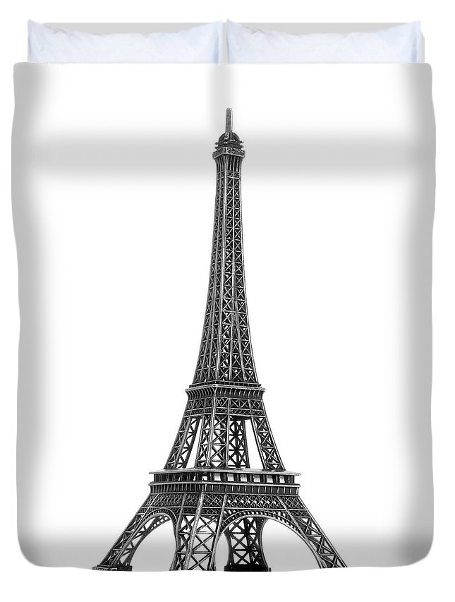 Architectural Model Duvet Cover featuring the photograph Eiffel Tower by Jamesmcq24