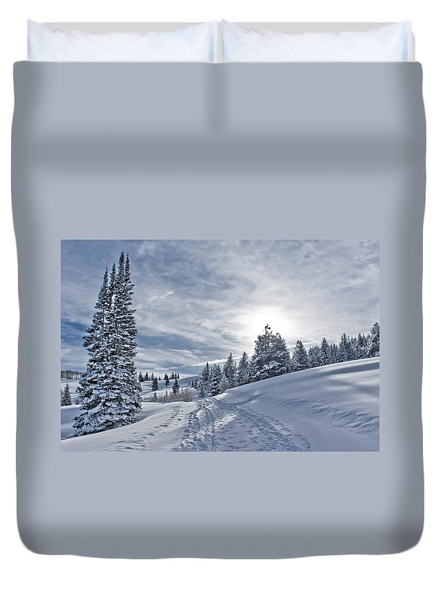 Shadow Duvet Cover featuring the photograph Escape From Beaver Creek by Rauch Jonathan Photographies