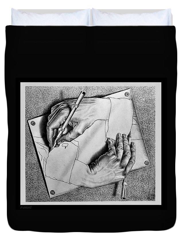 Maurits Cornelis Escher Duvet Cover featuring the photograph Escher 124 by Rob Hans