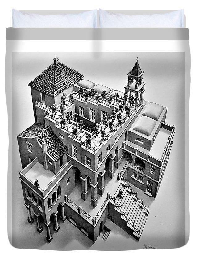 Maurits Cornelis Escher Duvet Cover featuring the photograph Escher 129 by Rob Hans