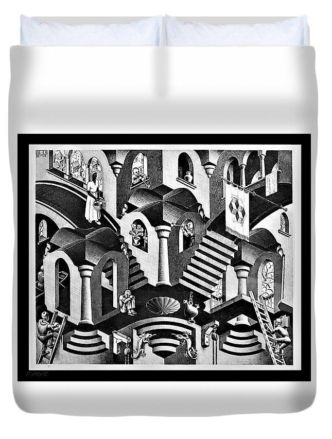 Maurits Cornelis Escher Duvet Cover featuring the photograph Escher 135 by Rob Hans
