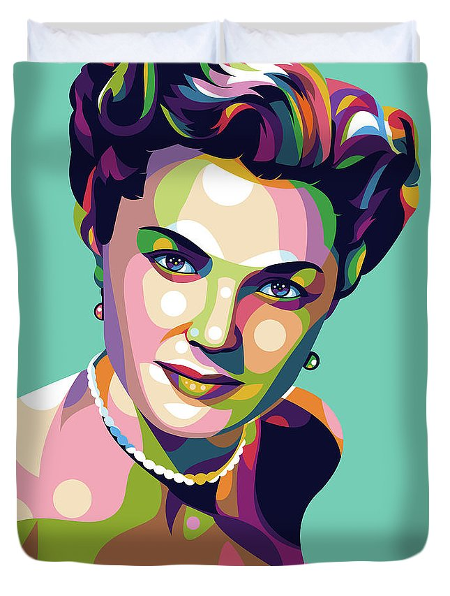Esther Duvet Cover featuring the digital art Esther Williams by Stars on Art
