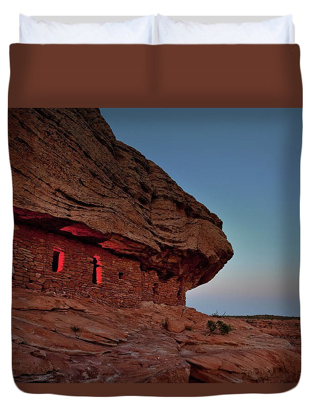 Tranquility Duvet Cover featuring the photograph Evening At The Citadel by Doorways To The Past