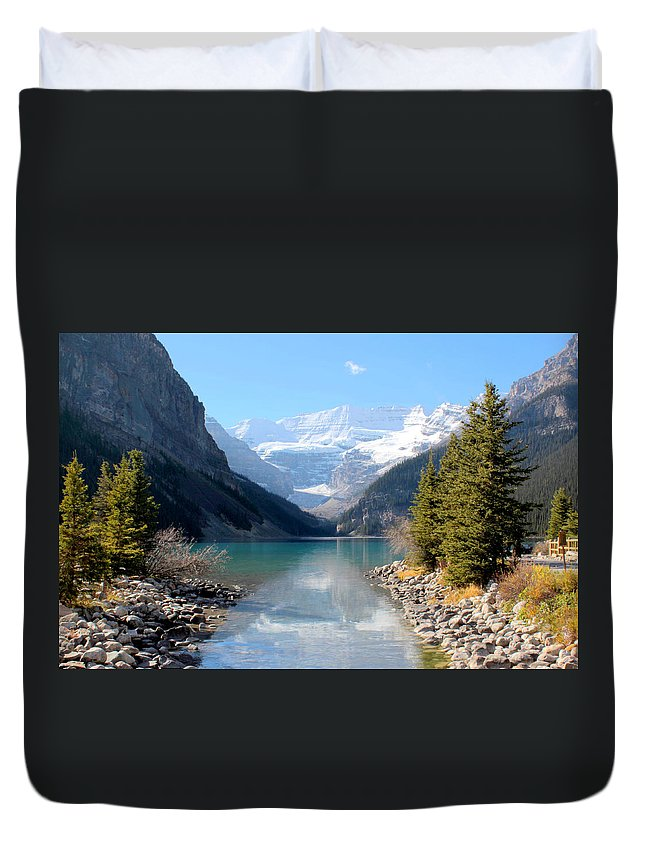 Tranquility Duvet Cover featuring the photograph Fall At Lake Louise , Alberta, Canada by Cynthia Russell Photography