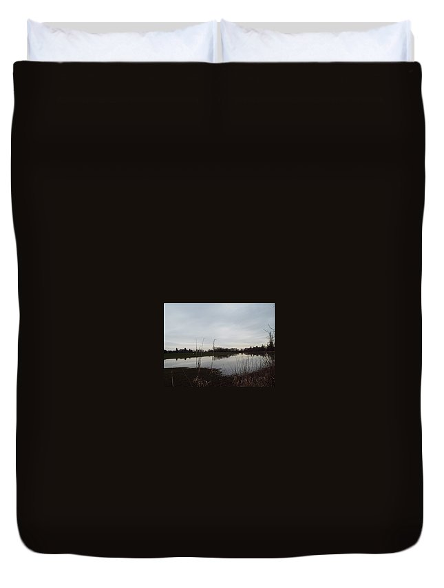 Duvet Cover featuring the photograph Farm Pond by James Harris