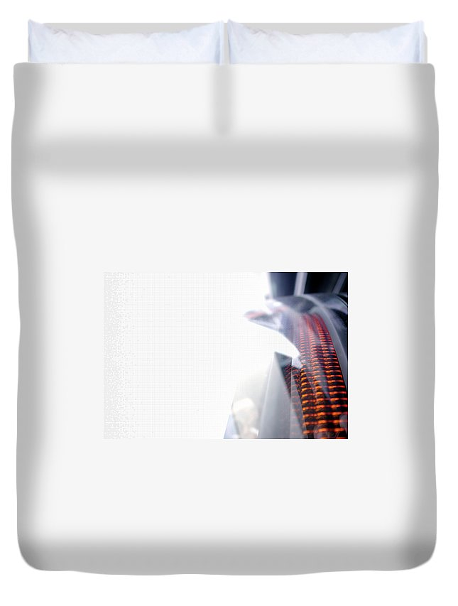 Internet Duvet Cover featuring the photograph File Transfer 2 by Dansin