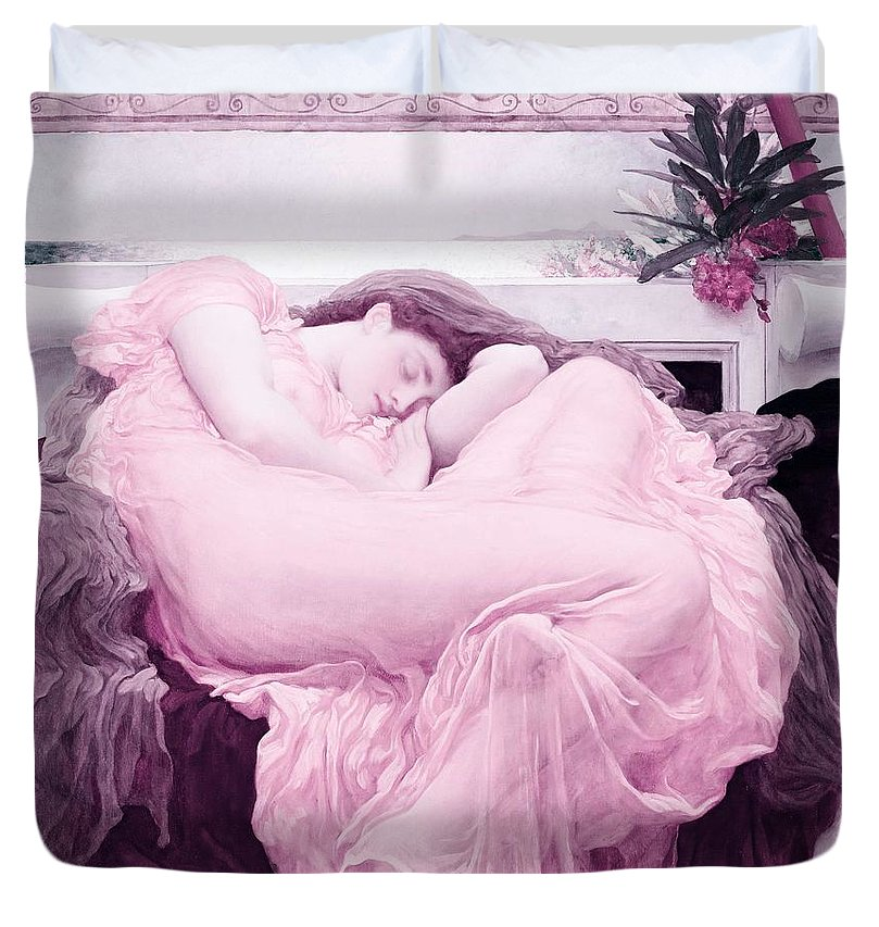 Flaming June By Frederic Lord Leighton 1830 1896 Infrared Version Duvet Cover For Sale By Frederic Lord Leighton King