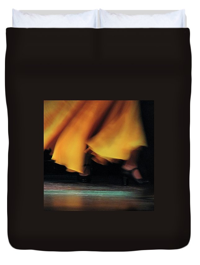Event Duvet Cover featuring the photograph Flemenco by By Eugene Lee