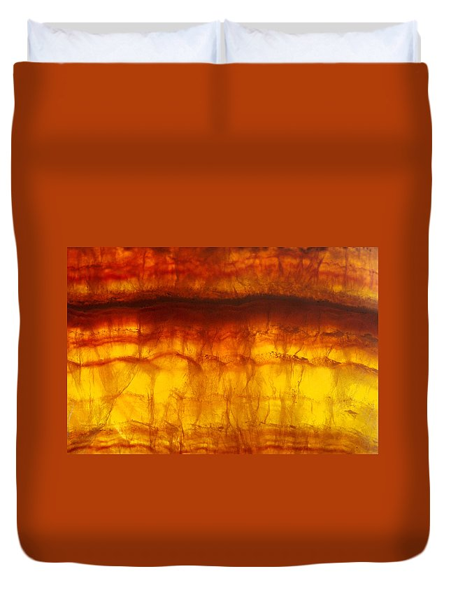 Mineral Duvet Cover featuring the photograph Flourite by David Wasserman
