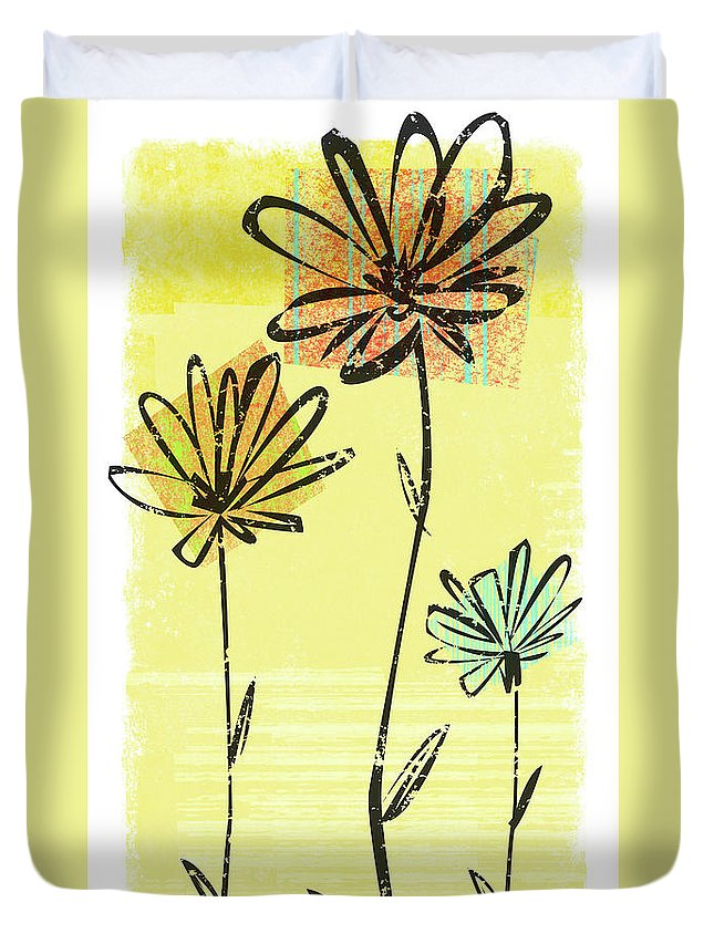 California Duvet Cover featuring the digital art Flowers In Springtime by Harry Briggs