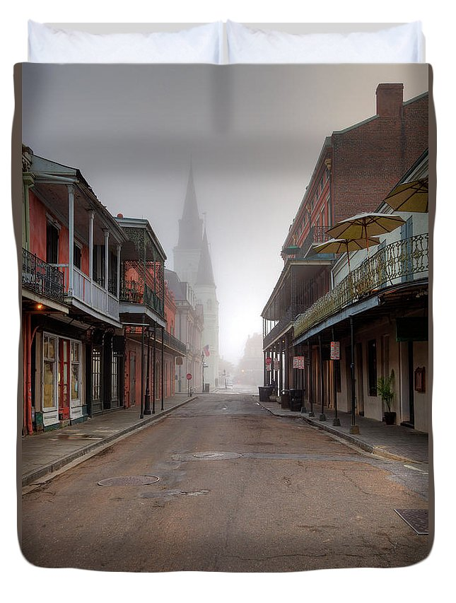 Nightclub Duvet Cover featuring the photograph French Quarter New Orleans by Denistangneyjr