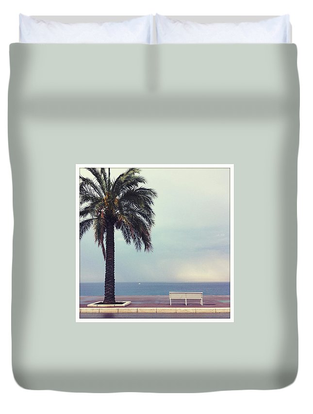 Tranquility Duvet Cover featuring the photograph French Riviera by Ixefra