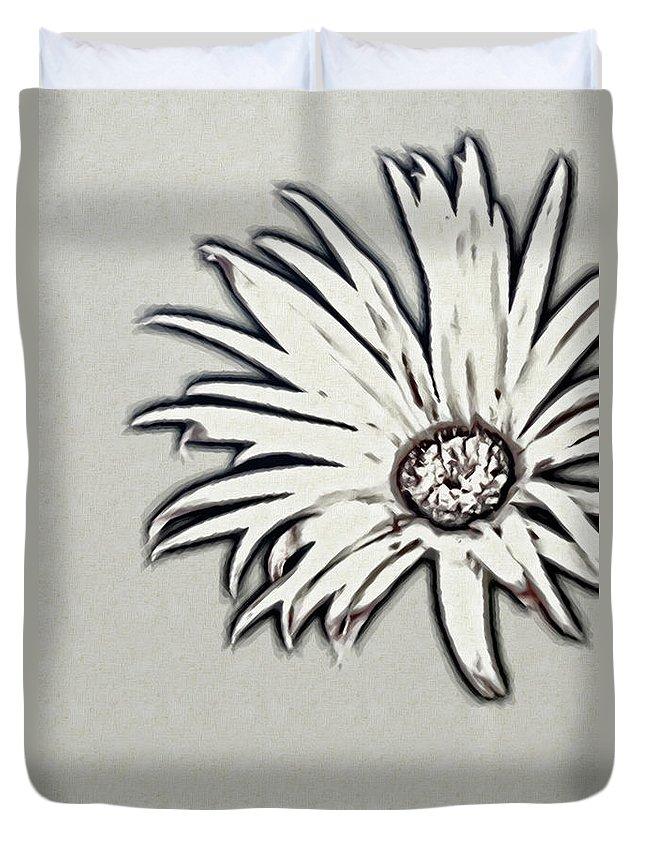 Rockville Duvet Cover featuring the photograph Gerbera Flower Shape by Maria Mosolova