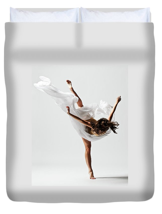 Ballet Dancer Duvet Cover featuring the photograph Girl Dancing by Copyright Christopher Peddecord 2009