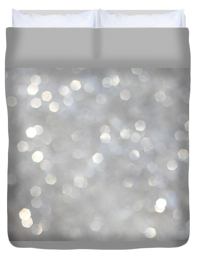 Holiday Duvet Cover featuring the photograph Glittery Background by Merrymoonmary