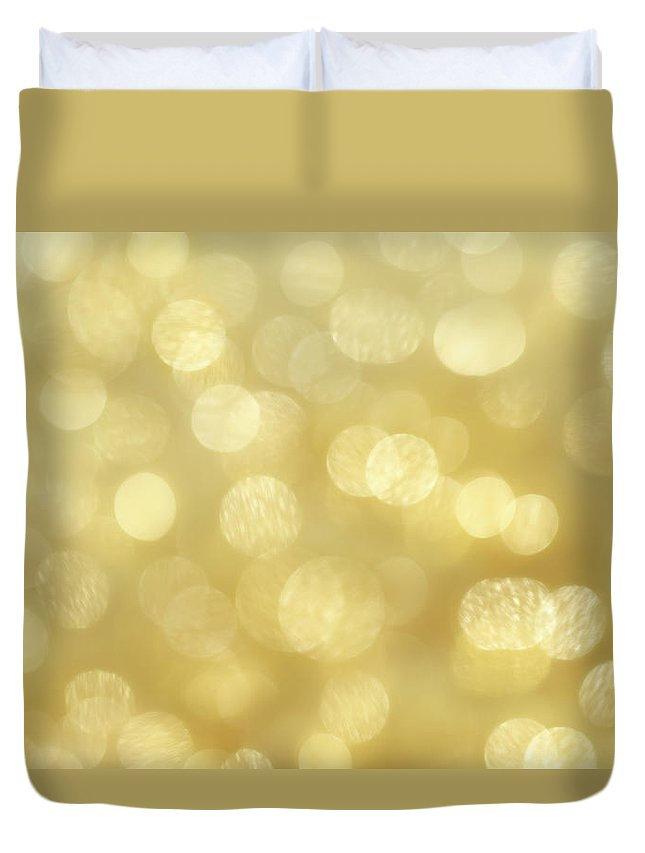 Holiday Duvet Cover featuring the photograph Glittery Lights - High Resolution Xxxl by Nightanddayimages