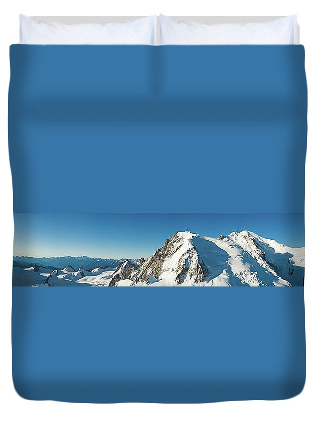 Scenics Duvet Cover featuring the photograph Glorious Mountain Vista Xxxl by Fotovoyager
