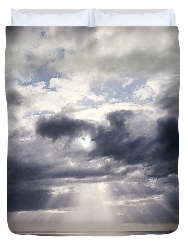 Scenics Duvet Cover featuring the photograph Gods Above Us by Ioseph