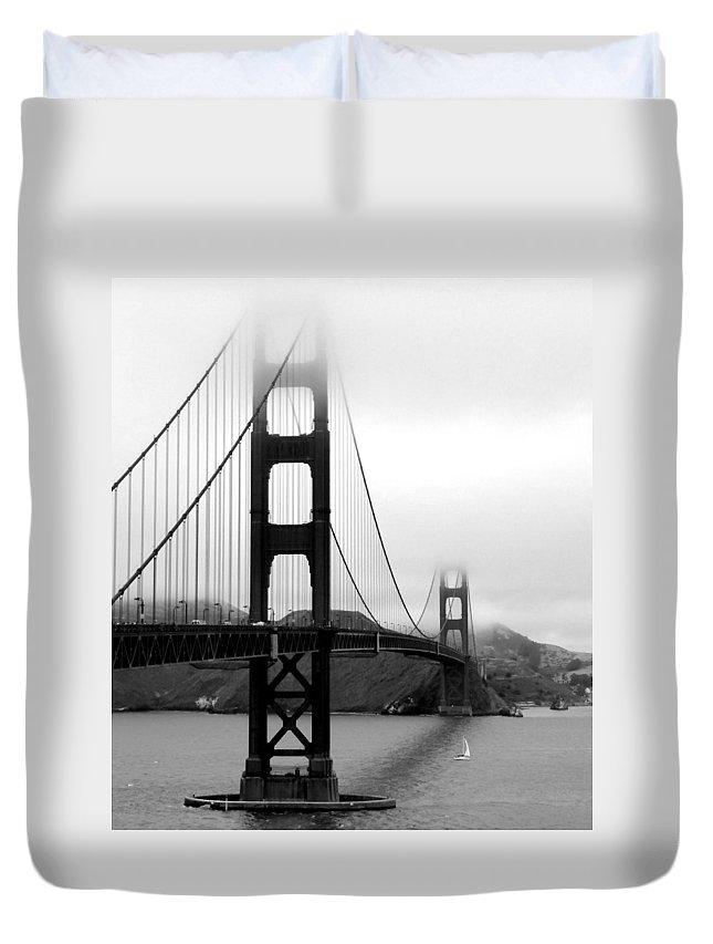 San Francisco Duvet Cover featuring the photograph Golden Gate Bridge by Federica Gentile