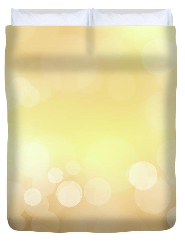 Backdrop Duvet Cover featuring the photograph Golden Glitter by Kwaigon