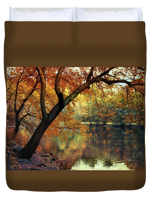 Autumn Duvet Cover featuring the photograph Golden Slumber by Jessica Jenney