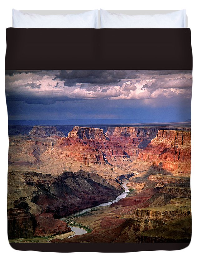 Scenics Duvet Cover featuring the photograph Grand Canyon, Arizon, Usa by Michael Busselle