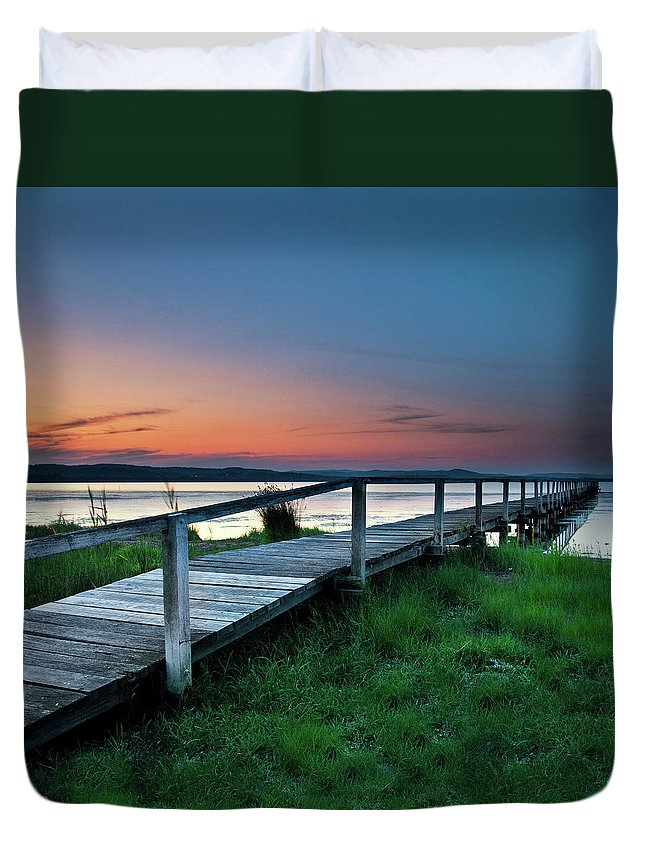 Tranquility Duvet Cover featuring the photograph Greener On The Other Side by Photography By Carlo Olegario