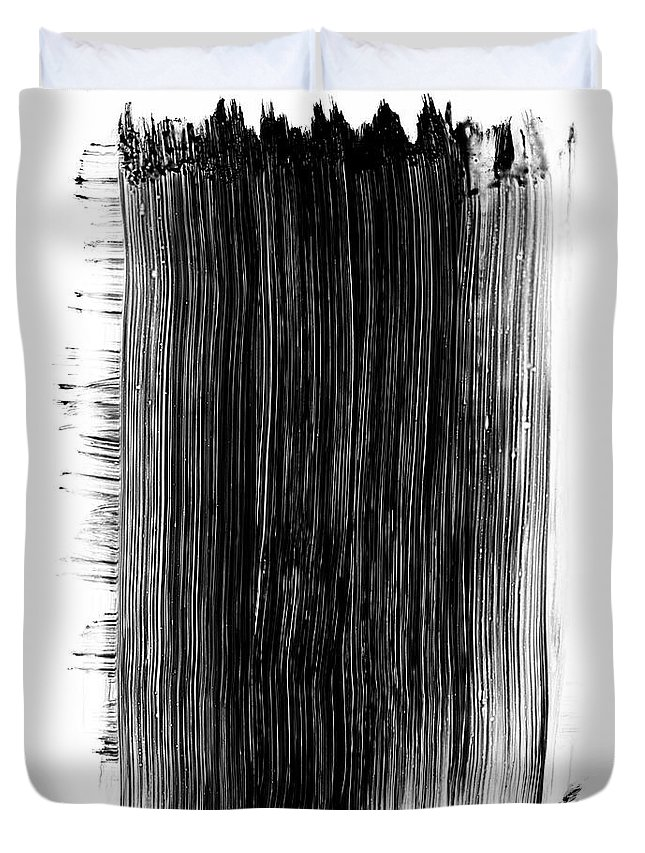 Art Duvet Cover featuring the photograph Grunge Black Paint Brush Stroke by 77studio
