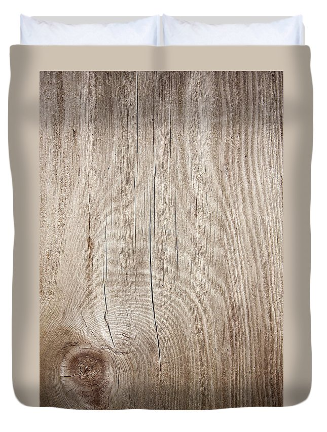 Material Duvet Cover featuring the photograph Grunge Wood Textured Background With by Hudiemm