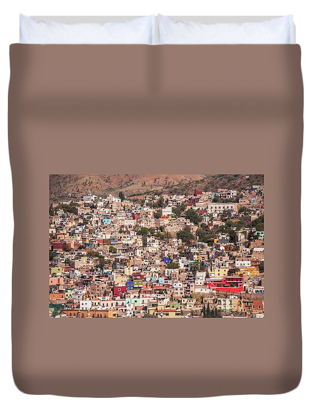 Scenics Duvet Cover featuring the photograph Guanajuato by Maryann Flick