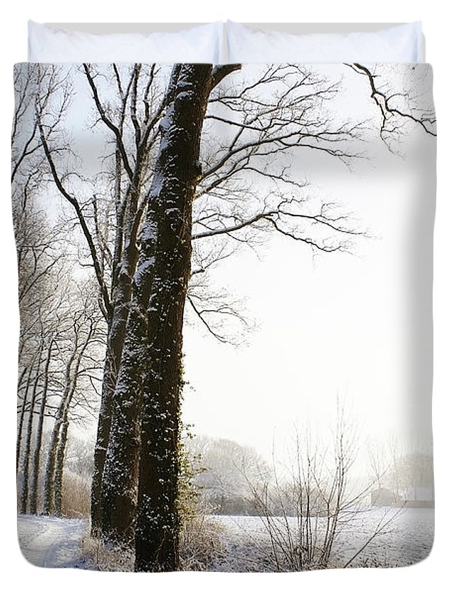 Tranquility Duvet Cover featuring the photograph Half Black, Half White by Bob Van Den Berg Photography