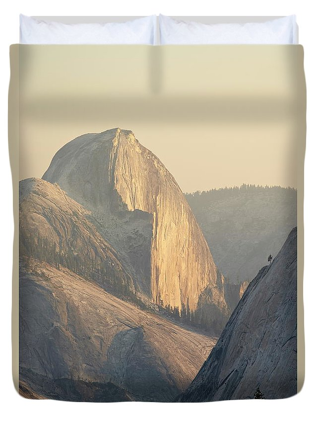 Scenics Duvet Cover featuring the photograph Half Dome At Sunset, Olmsted Point by James Hager / Robertharding