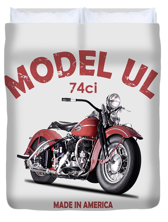 Harley Davidson Duvet Cover featuring the photograph Harley-davidson Ul 1941 by Mark Rogan
