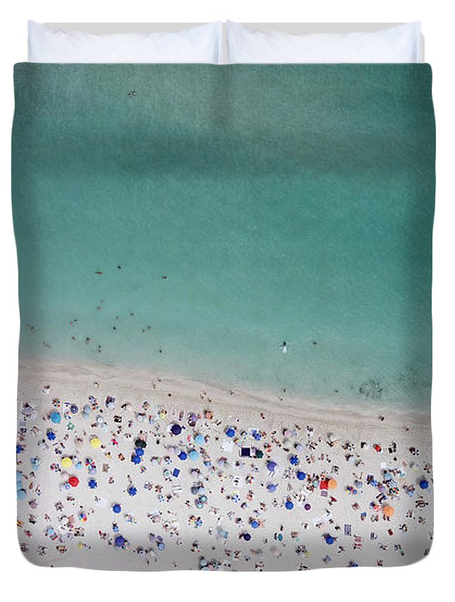 Water's Edge Duvet Cover featuring the photograph Haulover, Miami by Copyright Www.floridaphoto.com 305.235.7051