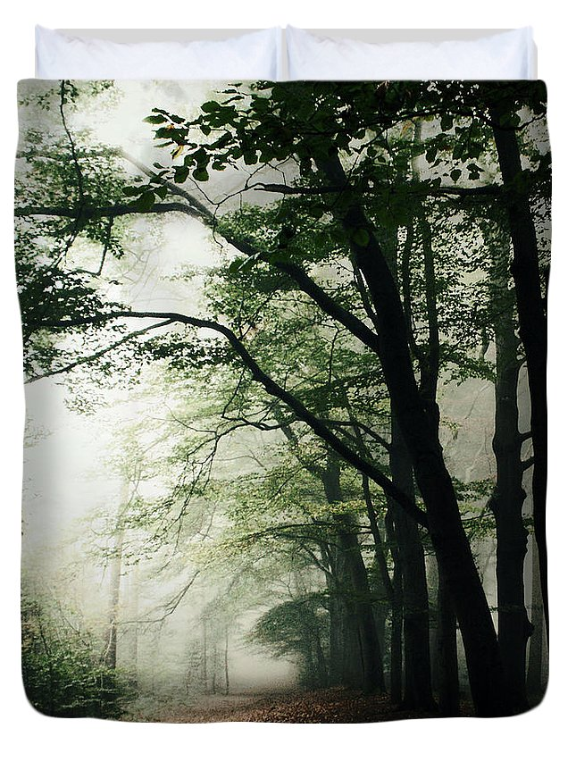 Scenics Duvet Cover featuring the photograph Haunted Forest by Bob Van Den Berg Photography