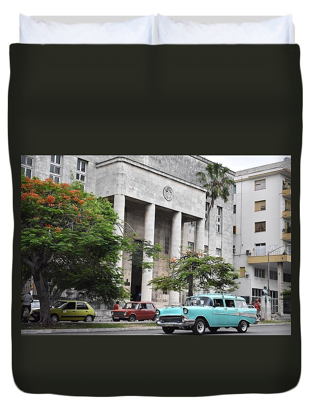 Havana Duvet Cover featuring the photograph Havana by Cassidy Marshall