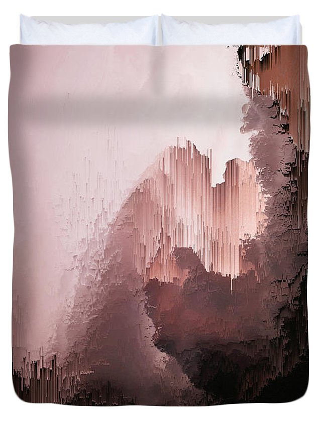 Duvet Cover featuring the digital art Healing heart by Jenny Filipetti