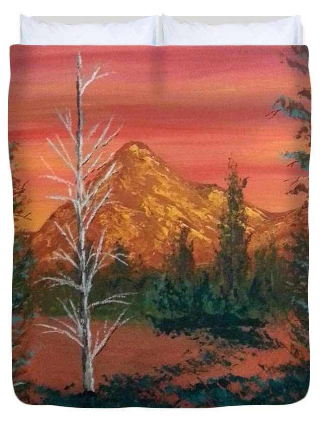 Landscape Duvet Cover featuring the painting Heat by Ken Farnsworth