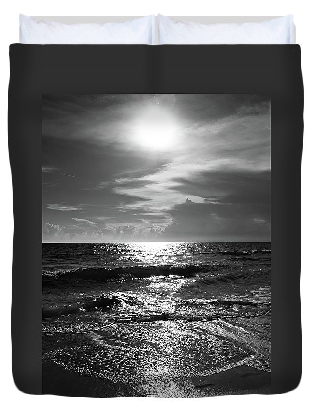 Water's Edge Duvet Cover featuring the photograph Helios by Robert S. Donovan