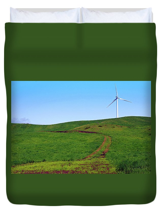 Environmental Conservation Duvet Cover featuring the photograph Hill by The Landscape Of Regional Cities In Japan.
