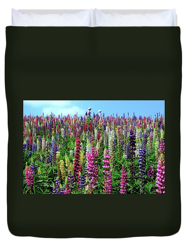 Scenics Duvet Cover featuring the photograph Hokkaido by Frank Chen