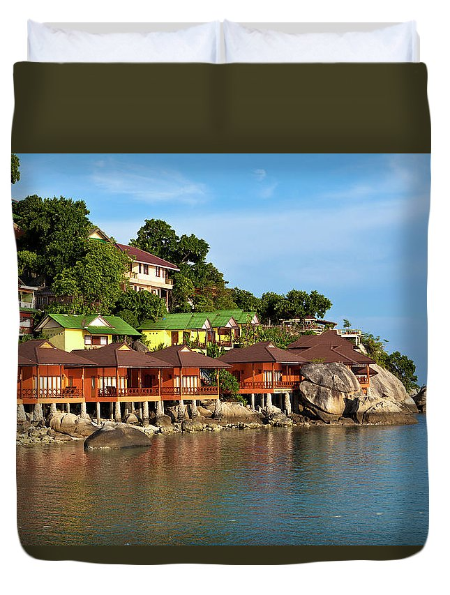 Vacations Duvet Cover featuring the photograph Holiday Villas by 35007