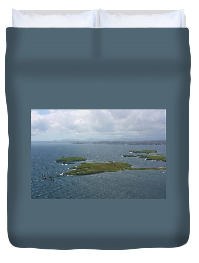 Tranquility Duvet Cover featuring the photograph Holm, Stornoway, Isle Of Lewis by Donald Morrison